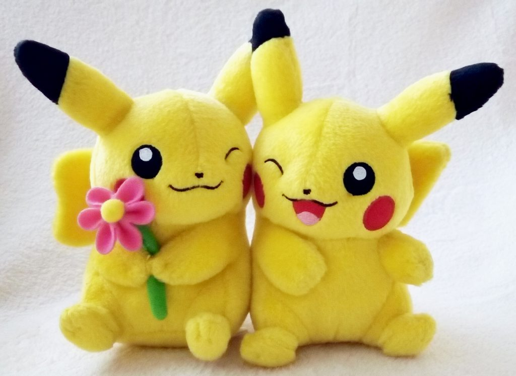 Pokémon Center Valentine 2012 Couple plush front