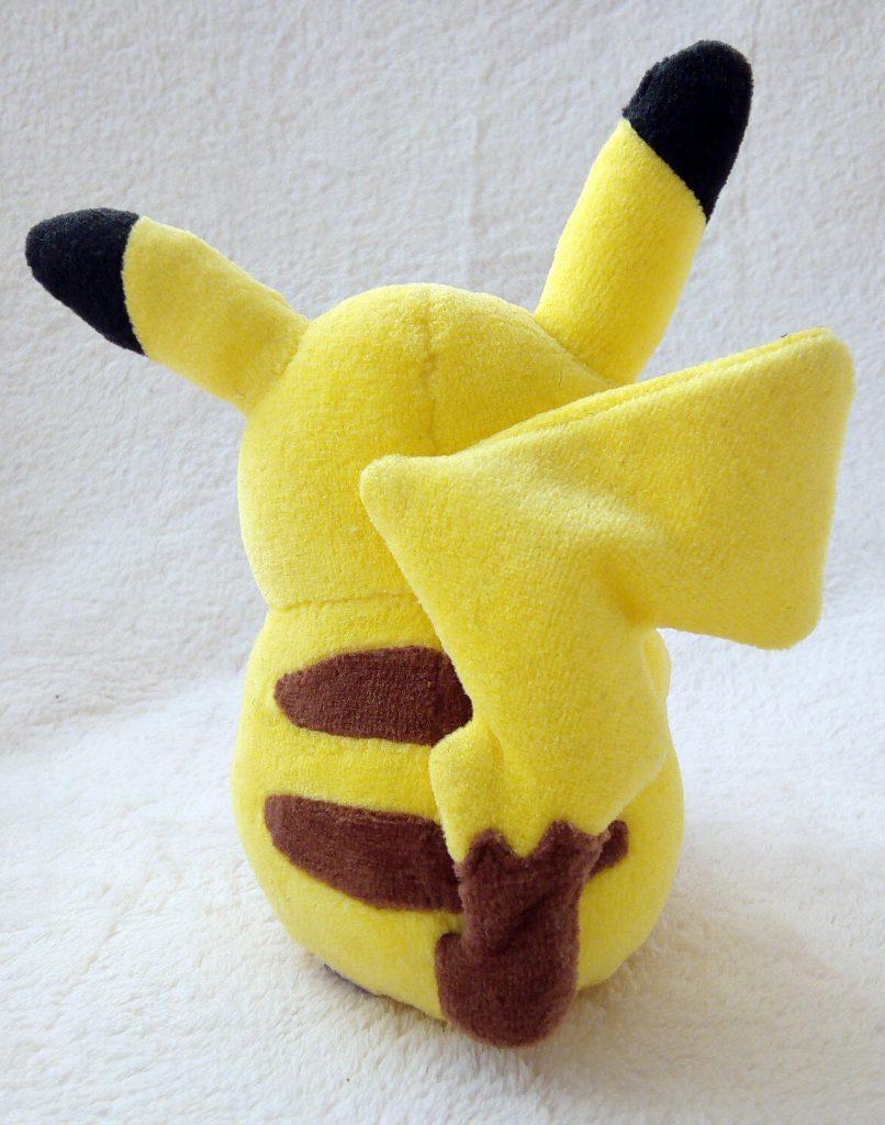 Rainbow Series 2010 plush by Pokémon Center Pikachu with Apple back