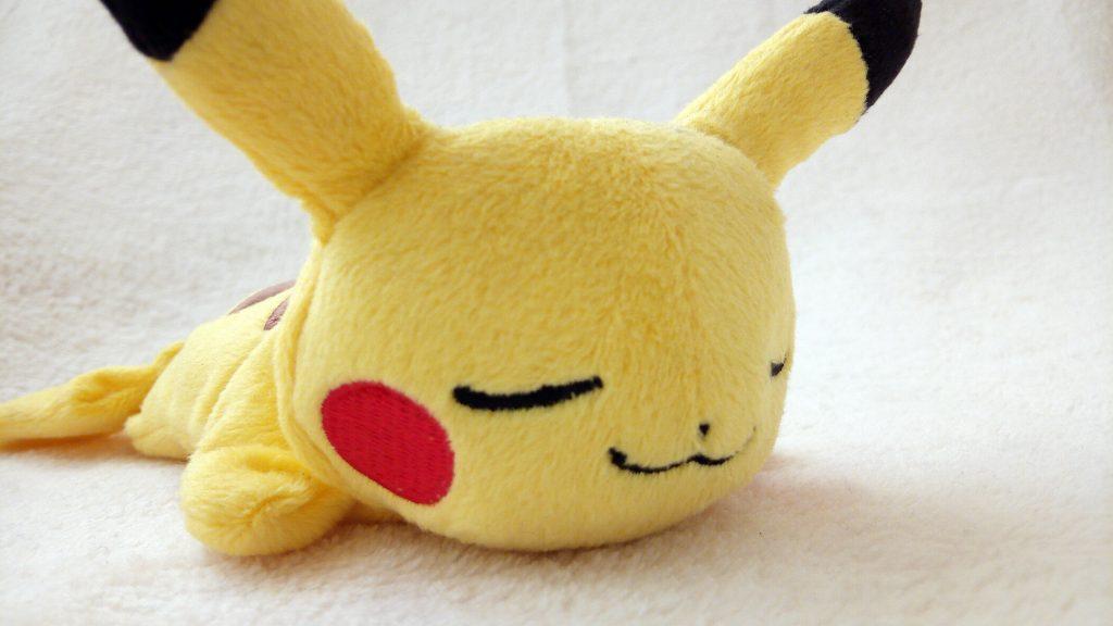 Pokémon Kuttari plush by Pokémon Center sleeping Pikachu Japanese