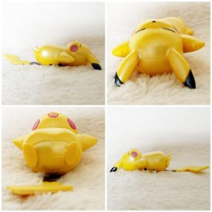 Tomy Pikachu Sleeping pose 2 pearly