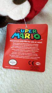 Mario PMS Plush 2009 hang tag back