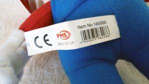 Mario PMS Plush 2009 tush tag back
