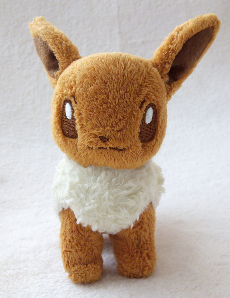 A front shot of Eevee Canvas Plush