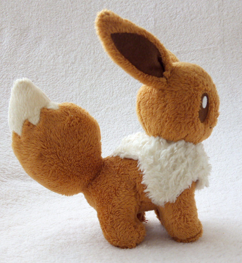 A side shot of Eevee Canvas Plush