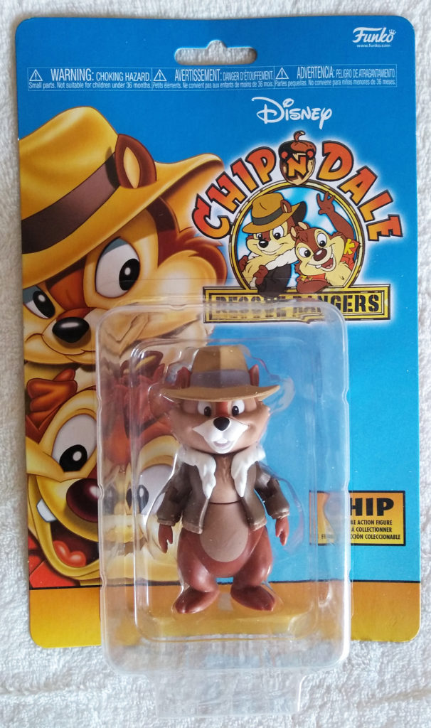 Disney Afternoon Action Figures Chip by Funko. Front in packaging.