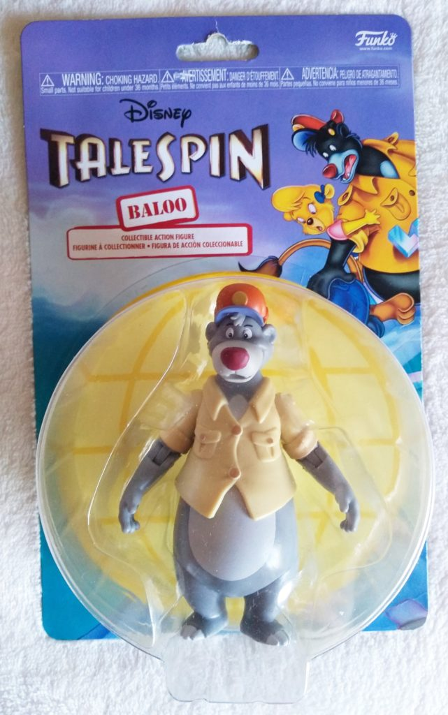 Disney Afternoon Action Figures Baloo by Funko. Front in packaging.