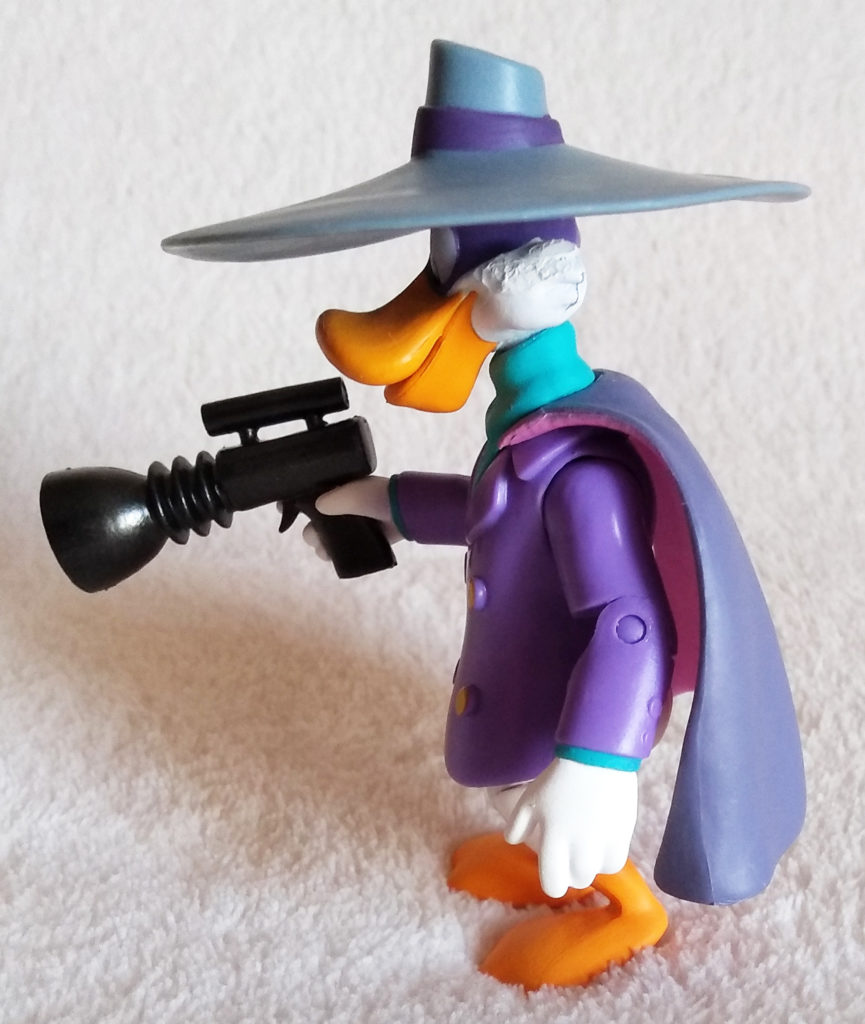 Disney Afternoon Action Figures Darkwing Duck by Funko, side.