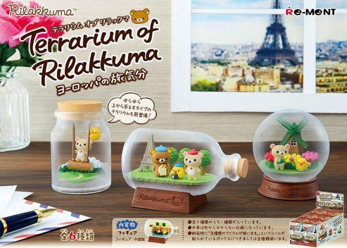 Terrarium of Rilakkuma, European's traveling mood by Re-ment promo image
