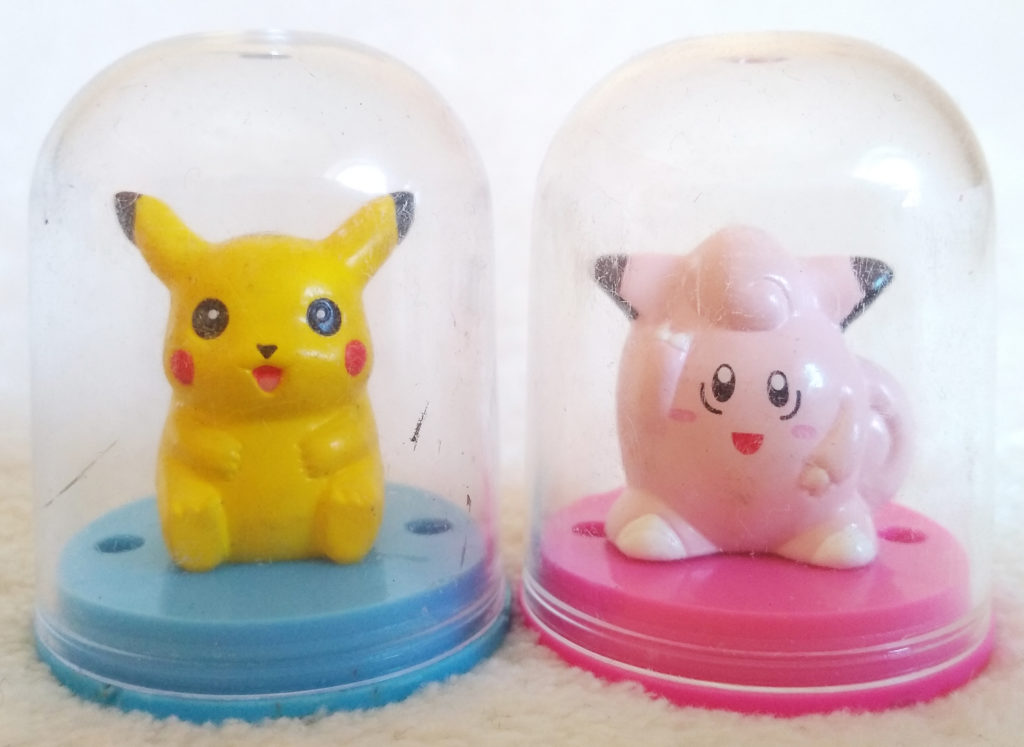 Pokémon Figure Collection by Tomy Pikachu and Clefairy