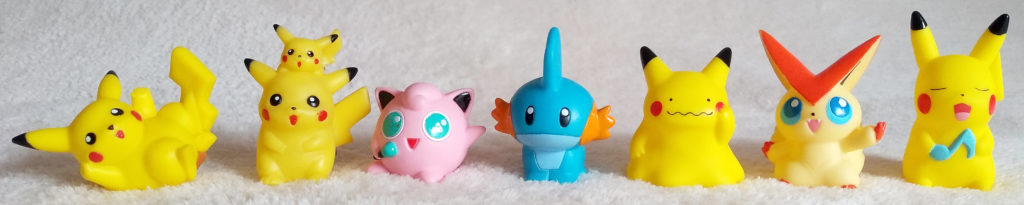 A collection shot of Pokémon Kids by Bandai