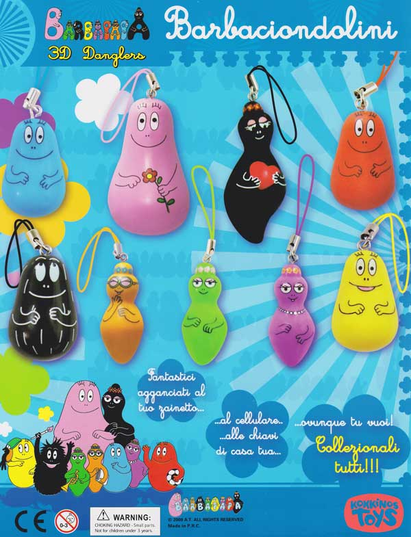 Barbapapa 3D Danglers by Cool Things