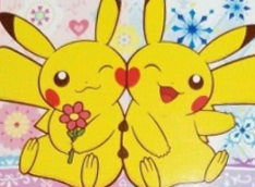 Pokémon Center Valentine 2012 Couple plush tag art