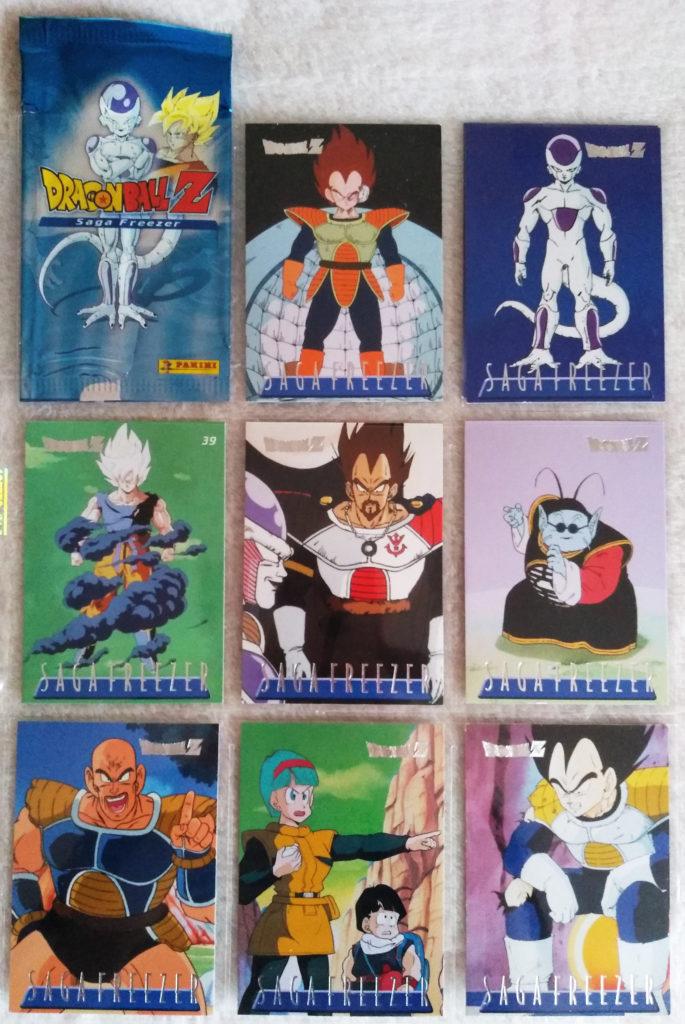 Dragonball Z Saga Freezer Trading Cards by Panini 17, 25, 39, 45, 61, 66, 73, 75