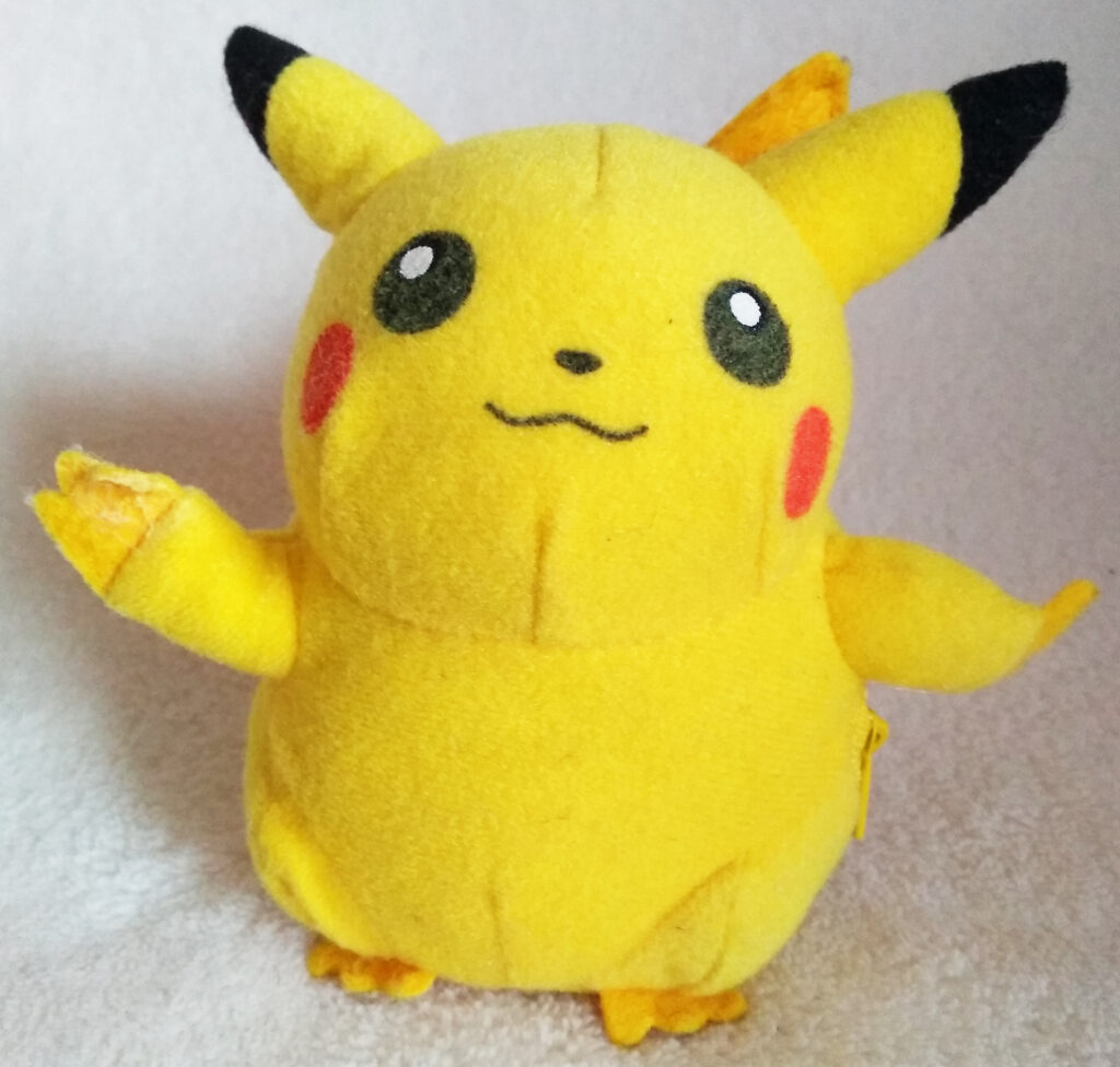 Reversible Pokéball plush by Tomy, Pikachu front