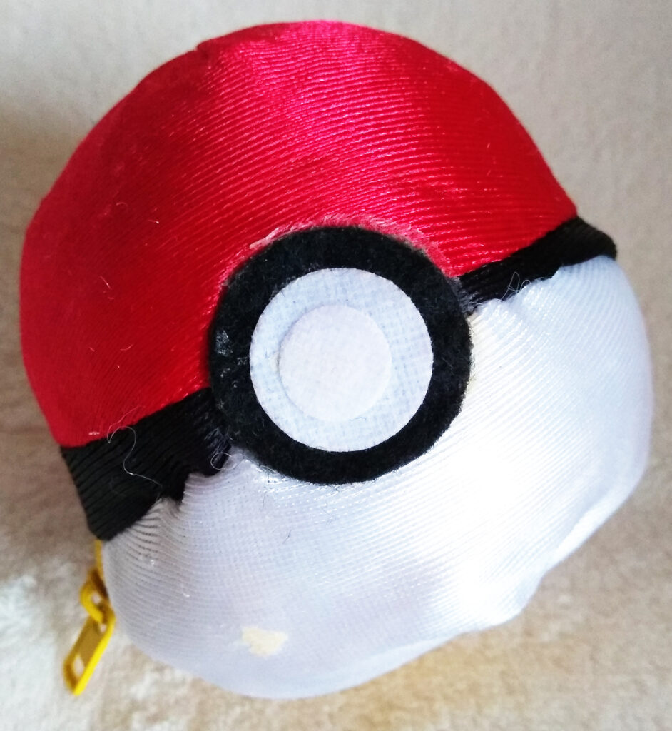 Reversible Pokéball plush by Tomy, Pikachu Pokéball