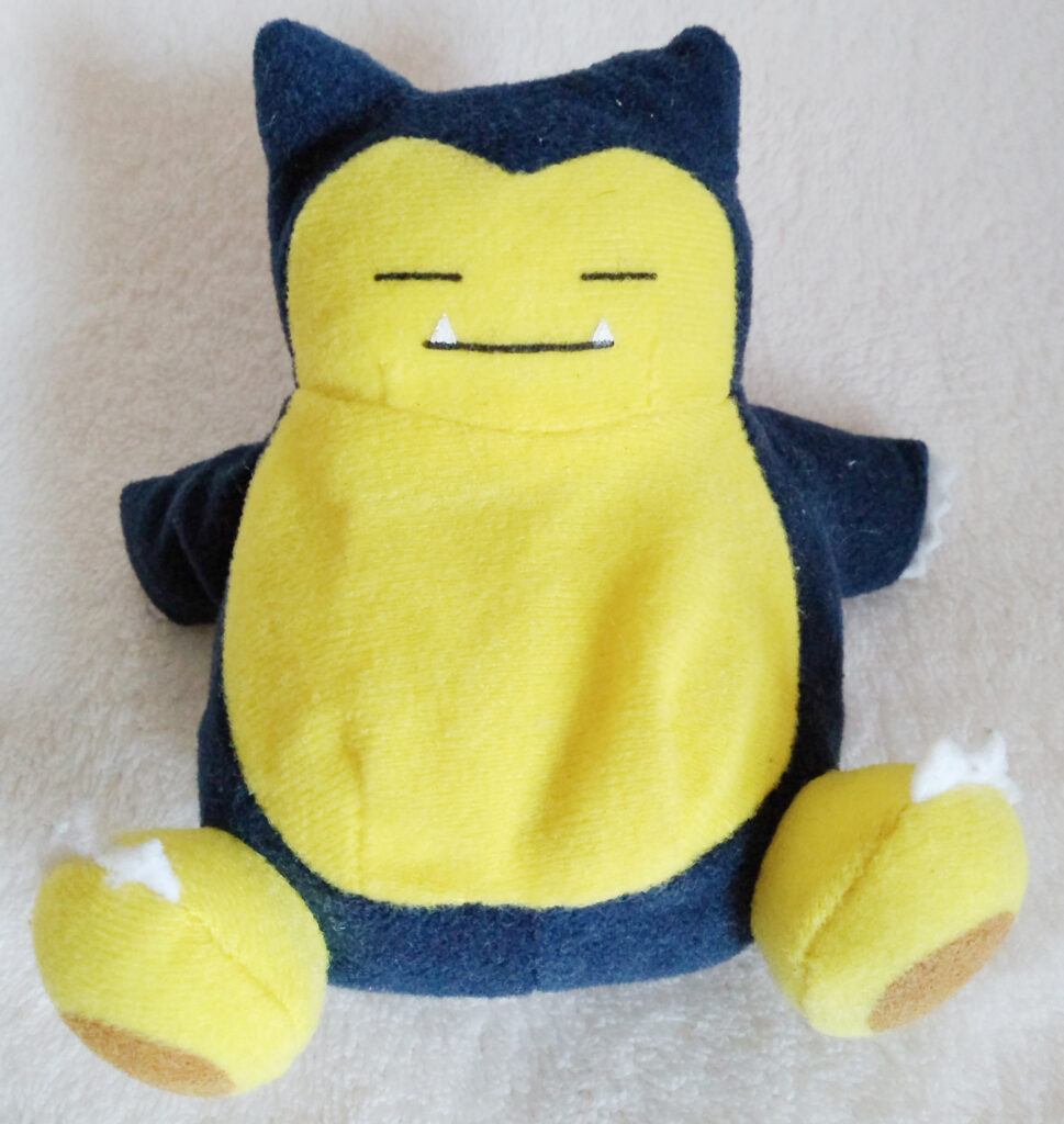 Reversible Pokéball plush by Tomy, Snorlax front