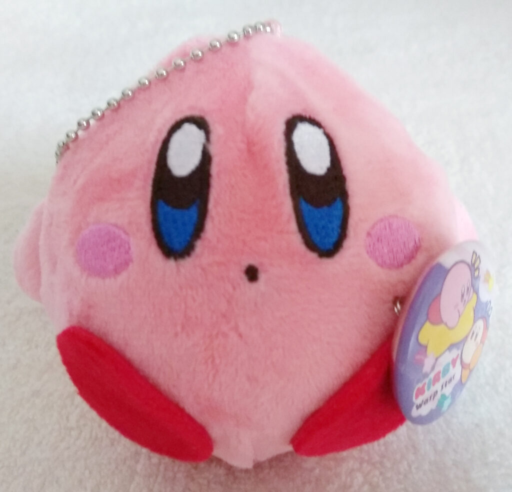 Front of Kirby of the Kirby Kurumikko Canbadge set