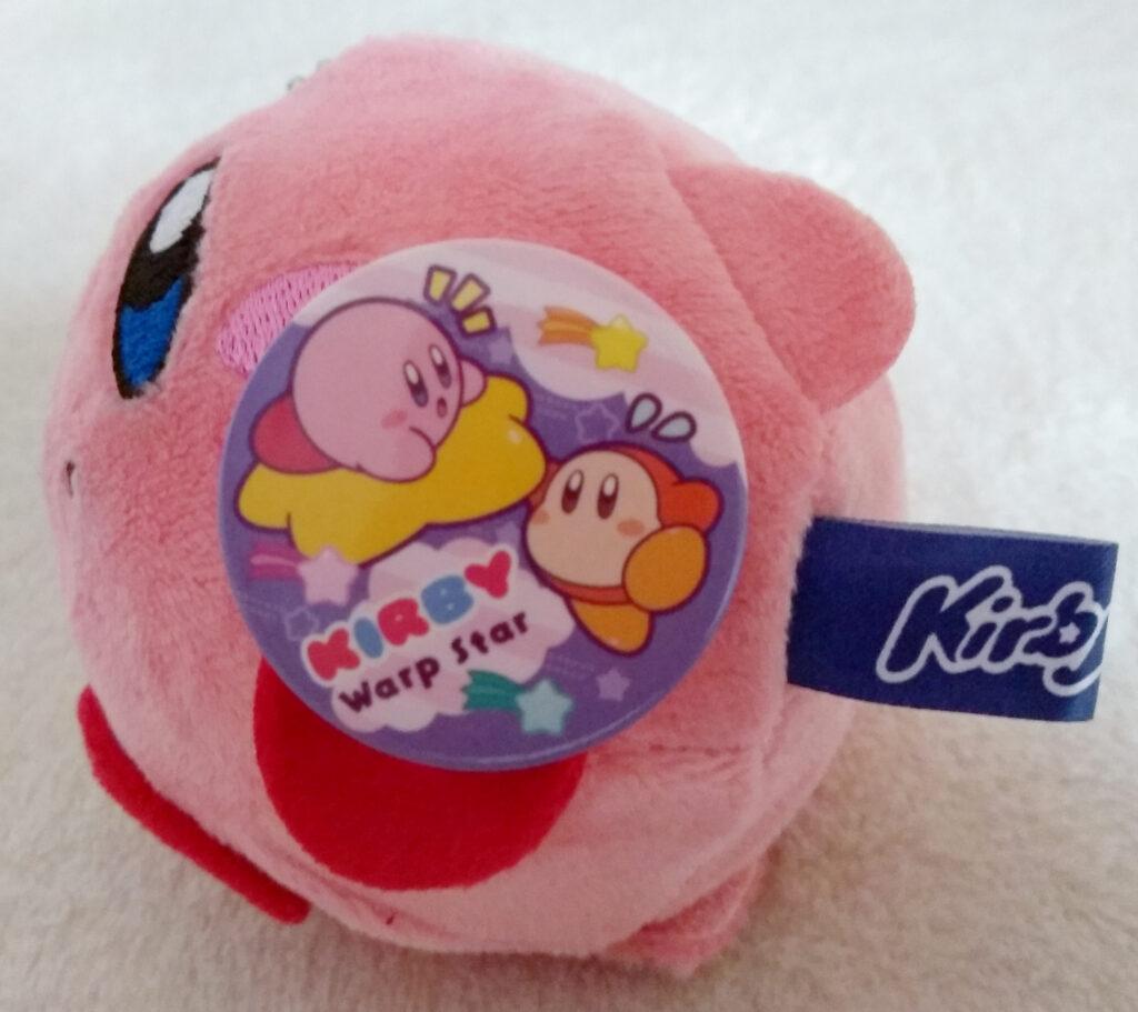 Side of Kirby of the Kirby Kurumikko Canbadge set