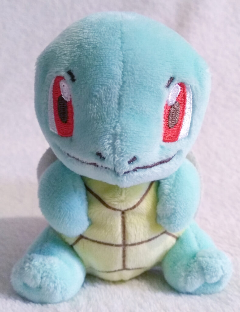 A front shot of Squirtle Canvas Plush