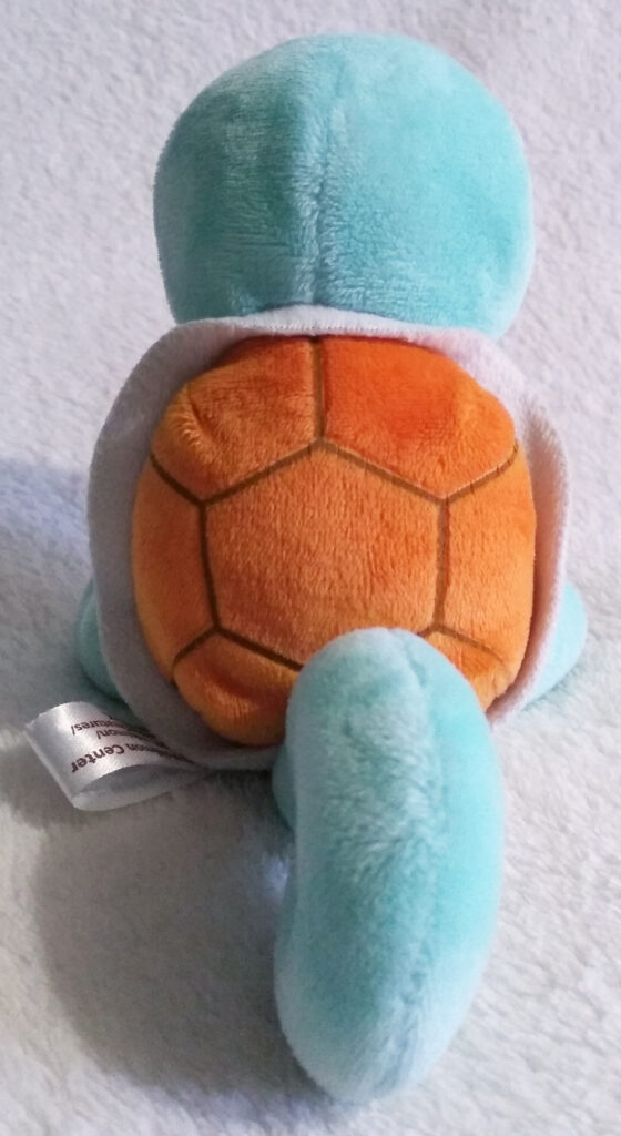 A back shot of Squirtle Canvas Plush