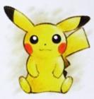 Artwork of Pikachu Canvas Plush