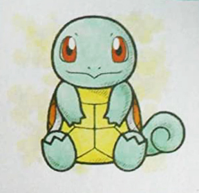 Artwork of Squirtle Canvas Plush