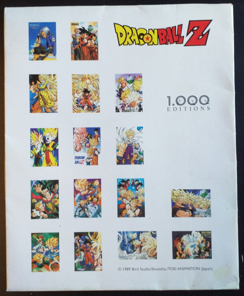 DBZ Posters 1000 Editions back of the Poster Pack Enveloppe