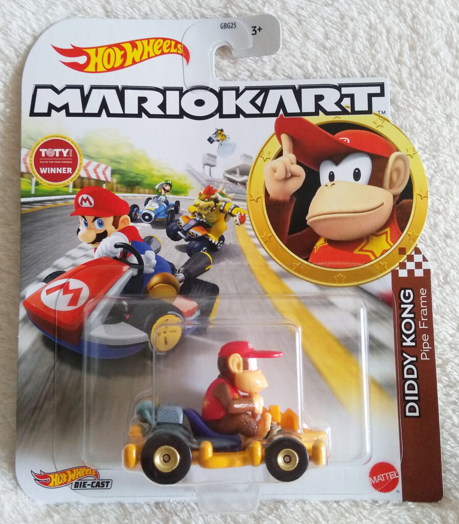 Mario Kart Hot Wheels by Mattel Diddy Kong Pipe Frame front packaging