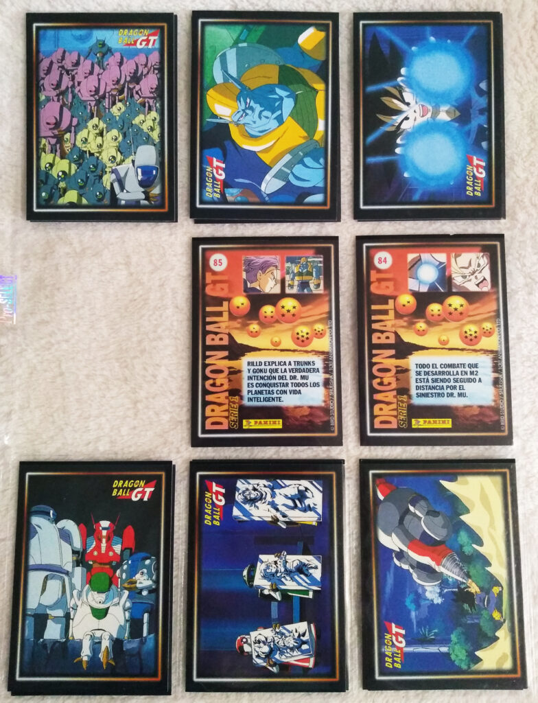Dragonball GT Cards Serie 1 by Panini 72-74, 78-80