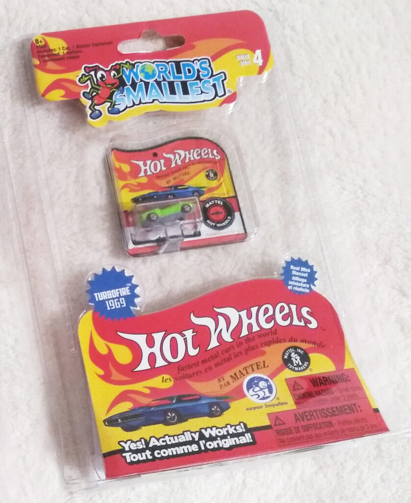 World's Smallest Hot Wheels Series 4 Turbofire 1969 packaging