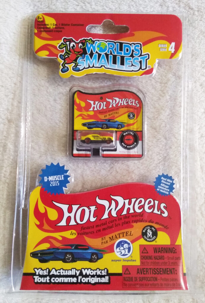 World's Smallest Hot Wheels Series 4 D-Muscle 2015 packaging